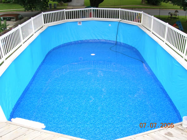 Inground pool liners above ground pool liners quotes for Top of the line above ground pools