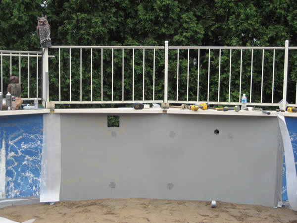 Above Ground Wall Fabrication