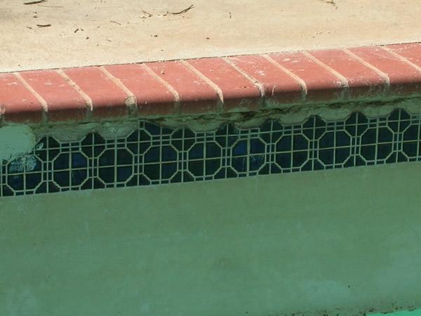 Inground Swimming Pool Tile Repair Before