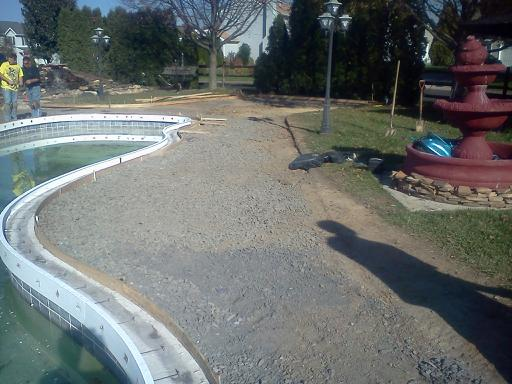 Inground Swimming Pool Coping tile and concrete Restoration