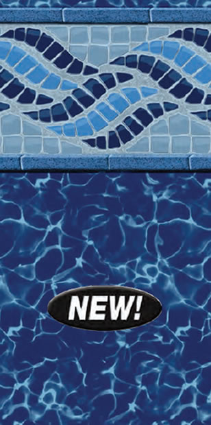 Inground Swimming Pool Liner Pattern Blue Fusion