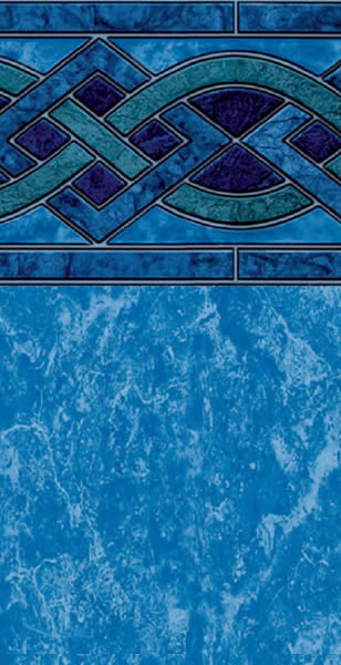 Above Ground Swimming Pool Vinyl Liner Solona Blue Marble