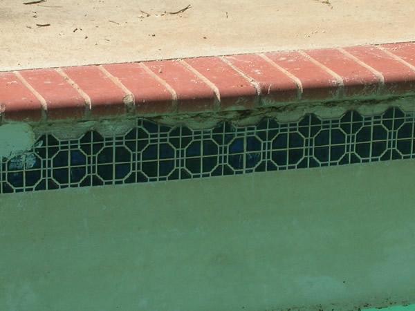 Inground Swimming Pool Tile Repair Before