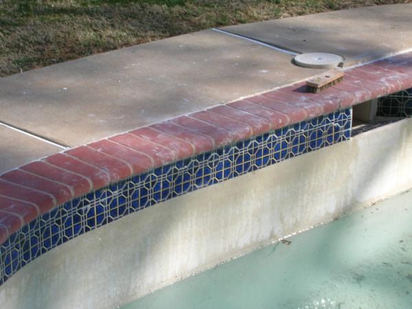Inground Swimming Pool Tile Repair After