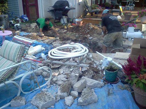Inground Swimming Pool Underground Pipe Repair