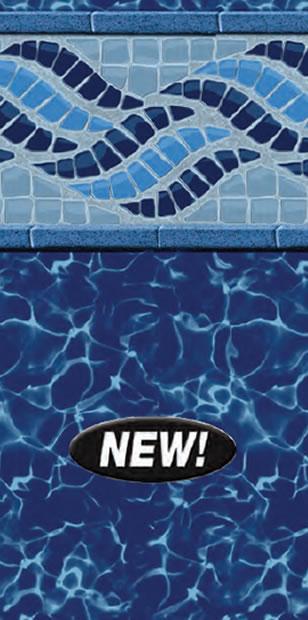 Inground Swimming Pool Liner Pattern Blue Fusion